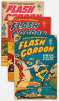 Golden Age (1938-1955):Science Fiction, Flash Gordon #1, 3, and 4 Group (Harvey, 1950-51) Condition:Average GD.... (Total: 3 Comic Books)