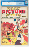Platinum Age (1897-1937):Miscellaneous, Funny Picture Stories V2#1 (Comics Magazine, 1937) CGC VG 4.0Slightly brittle pages....