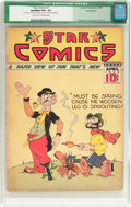 Golden Age (1938-1955):Miscellaneous, Star Comics #11 (Centaur, 1938) CGC Qualified VG+ 4.5 Light tan to off-white pages....