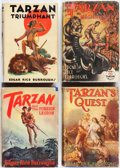 Books:Science Fiction & Fantasy, Edgar Rice Burroughs. Group of Four Tarzan Books. Tarzana:Edgar Rice Burroughs, [1932-1947]. First editions.... (Total: 4Items)