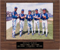 Baseball Collectibles:Photos, 1980's New York Mets Stars Signed Photograph from The Gary Carter Collection....