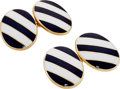 Estate Jewelry:Cufflinks, Enamel, Gold Cuff Links, Tiffany & Co.. . ... (Total: 2 Items)
