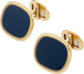 Estate Jewelry:Cufflinks, Sapphire, Enamel, Gold Cuff Links, Patek Philippe. . ... (Total: 2Items)