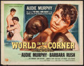 "Movie Posters:Sports, World in My Corner (Universal International, 1956). Half Sheet (22"" X 28"") Style A. Sports.. ..."