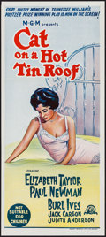 "Movie Posters:Drama, Cat on a Hot Tin Roof (MGM, R-1966). Australian Daybill (13.25"" X 30""). Drama.. ..."