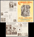 "Movie Posters:Black Films, The Crimson Skull & Others Lot (Norman, 1922). Uncut Pressbooks (2) (4 Pages, 14"" X 18.5"" & 14"" X 22"") & Marketing Sheet (4 ... (Total: 3 Items)"