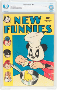 New Funnies #79 File Copy (Dell, 1943) CBCS VF 8.0 Off-white pages
