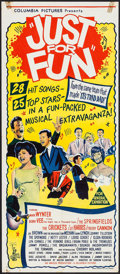 """Movie Posters:Rock and Roll, Just for Fun (Columbia, 1963). Australian Daybill (13"""" X 30""""). Rockand Roll.. ..."""