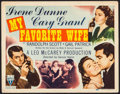 "Movie Posters:Comedy, My Favorite Wife (RKO, 1940). Title Lobby Card (11"" X 14""). Comedy.. ..."