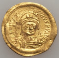 Ancients:Byzantine, Ancients: Justinian I (AD 527-565). AV solidus (4.45 gm). VeryFine...