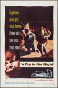 "Movie Posters:Crime, A Cry in the Night (Warner Brothers, 1956). One Sheet (27"" X 41"") & Lobby Cards (2) (11"" X 14""). Crime.. ... (Total: 3 Items)"