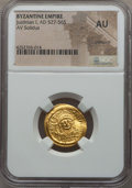 Ancients:Byzantine, Ancients: Justinian I the Great (AD 527-565). AV solidus. NGC AU,crimped....