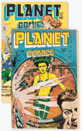 Golden Age (1938-1955):Science Fiction, Planet Comics #49 and 57 Group (Fiction House, 1947-48) Condition:Average GD.... (Total: 2 Comic Books)