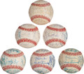 Baseball Collectibles:Balls, 1983-88 All-Star Team Signed Baseballs Lot of 6 from The GaryCarter Collection. ...
