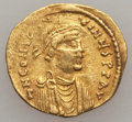 Ancients:Byzantine, Ancients: Constans II (641-668). AV semissis (2.16 gm). VeryFine...