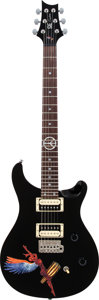 Music Memorabilia:Memorabilia, Carlos Santa Owned and Played 2009 Paul Reed Smith (PRS) AbraxasPrototype Black Solid Body Electric Guitar, Serial # J03033, ...