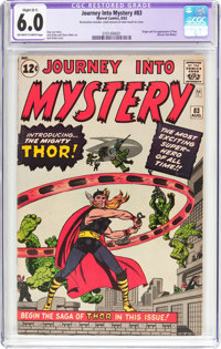Journey Into Mystery #83 (Marvel, 1962) CGC Apparent FN 6.0 Slight (B-1) Off-white to white pages