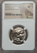 Ancients:Greek, Ancients: MACEDONIAN KINGDOM. Alexander III (336-323 BC). ARtetradrachm. NGC XF, graffito...