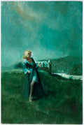 Original Comic Art:Covers, Gothic Romance Paperback Novel Cover Painting Original Art(undated)....