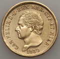 Italy, Italy: Sardinia. Carlo Felice gold 80 Lire 1830-P XF - ScratchedCleaned,...