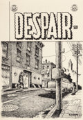 Robert Crumb (b. 1943) Despair, unpublished cover, circa 1970 Ink on paper 12-7/8 x 9 inches (32
