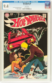 Hot Wheels #6 (DC, 1971) CGC NM 9.4 White pages