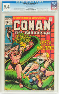 Bronze Age (1970-1979):Adventure, Conan the Barbarian #7 (Marvel, 1971) CGC NM 9.4 Off-white to whitepages....