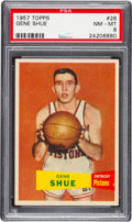Basketball Cards:Singles (Pre-1970), 1957 Topps Gene Shue #26 PSA NM-MT 8 - Only One Higher....