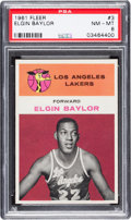 Basketball Cards:Singles (Pre-1970), 1961 Fleer Elgin Baylor #3 PSA NM-MT 8....