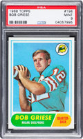 Football Cards:Singles (1960-1969), 1968 Topps Bob Griese #196 PSA Mint 9....