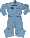 Explorers:Space Exploration, James Lovell's Flight Suit with Name Badge and Apollo 13 Patch,Directly from His Personal Collection, with Signed LOA. ...