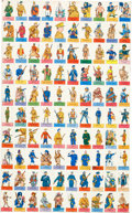 "Non-Sport Cards:Sets, 1949 Topps ""Flags of all Nations/Soldiers of the Word' Complete Set(100) - One Uncut Sheet. ..."