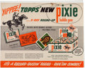 Non-Sport Cards:Sets, 1948 Topps X-Ray Round Up Ad Display Sign. ...