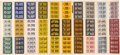 "Non-Sport Cards:Sets, 1939 R19-4 Goudey ""Auto License Plates"" Uncut Sheet With 120 Cards(4 Complete Sets). ..."
