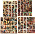Non-Sport Cards:Sets, 1958 Topps R712-5 Zorro Complete Set (88) In Four Uncut Sheets....