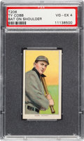 Baseball Cards:Singles (Pre-1930), 1909-11 T206 Piedmont Ty Cobb (Bat On Shoulder) PSA VG-EX 4....