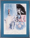 "Explorers:Space Exploration, Robert Rasmussen Signed Limited Edition ""Naval Aviation in Space""Print, #555/1000, Signed by Nine Astronauts, with Certificat..."