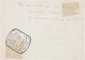"Explorers:Space Exploration, Gemini 8 Crew-Signed Note to the Rescue Ship U.S.S. Leonard F.Mason's Crew with Four Original NASA ""Red Number"" C... (Total:5 Items)"
