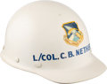 Explorers:Space Exploration, Apollo 1 Review Board Panel Member Lt. Col. C. B. Netherton's6595th Aerospace Test Wing Hard Hat....