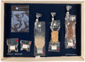 Explorers:Space Exploration, Apollo 11 Space Food (Five Packages) in Original Display from thePackaging Company with 1969 Letter of Transmittal. ...