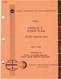 Explorers:Space Exploration, Apollo 11 NASA Final Apollo 11 Flight Plan AS-506 / CSM-107 /LM-5 Book....