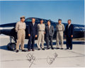 Autographs:Celebrities, Neil Armstrong and Robert White Signed X-15 Limited Edition ColorPhoto. ...
