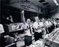 Autographs:Celebrities, Apollo 13 Mission Control Photo Signed by Ten Including Fred Haise, Gene Kranz, Jack Lousma, and Joe Kerwin. ...