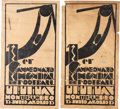 Miscellaneous Collectibles:General, 1930 Inaugural World Cup Monochromatic Lithographs Lot of 2....