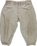 Baseball Collectibles:Uniforms, 1930's Lou Gehrig Game Worn New York Yankees Pants, MEARS Authentic....