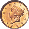 Gold Dollars, 1854-S G$1 MS64 NGC....