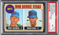 Baseball Cards:Singles (1950-1959), 1968 Topps Nolan Ryan - Mets Rookie Stars #177 PSA NM-MT 8....