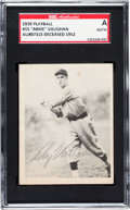 Baseball Cards:Singles (1930-1939), Signed 1939 Play Ball Arkie Vaughan #55 SGC Authentic....