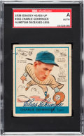 Baseball Cards:Singles (1930-1939), Signed 1938 Goudey Heads-Up Charlie Gehringer #265 SGCAuthentic....
