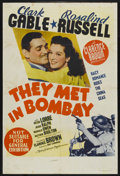 "Movie Posters:Adventure, They Met in Bombay (MGM, 1941). Australian One Sheet (26.5"" X39.7""). Adventure. ..."